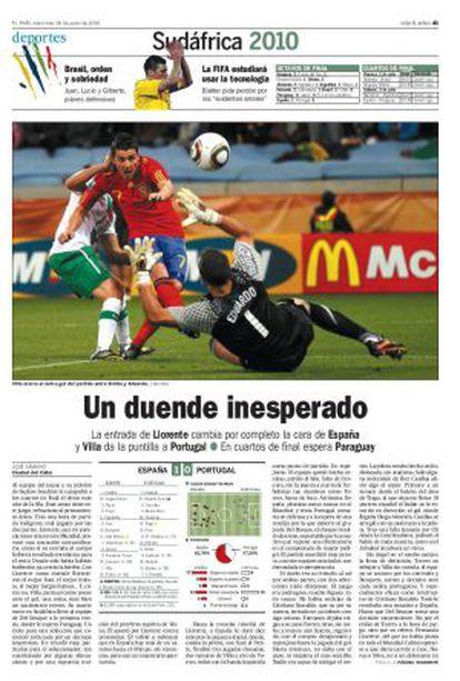 ESPAÑA, 1; PORTUGAL, 0
