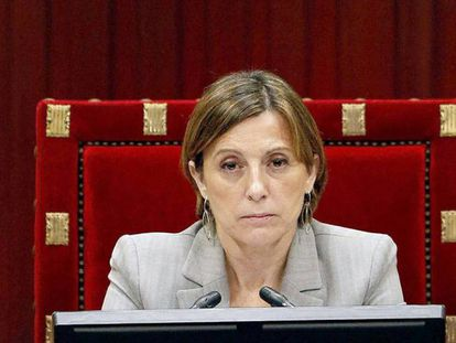 La presidenta del Parlamento de Cataluña, Carmen Forcadell.