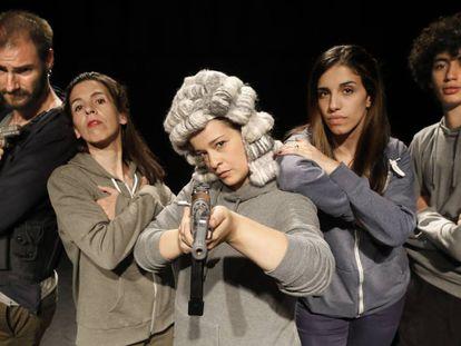'Tres días sin Charlie', obra que se representa en el Teatro del Barrio de Lavapiés.