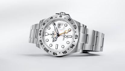 Oyster Perpetual Explorer II de Rolex, presentado en Watches & Wonders 2021.