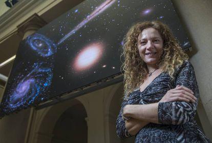 Amina Helmi, astronoma, fotografiada en la Fundacion BBVA