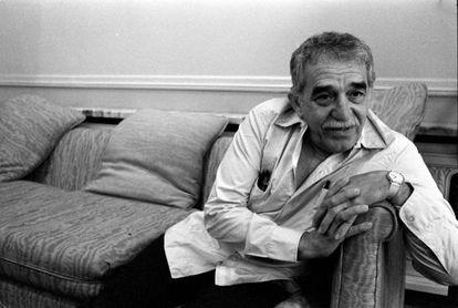 El escritor Gabriel García Márquez, durante una entrevista en 1990.