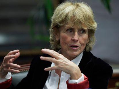 La periodista Mercedes Milá, en Madrid.