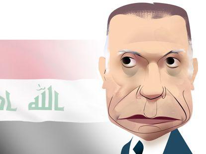 Mustafa Al Kadhimi. Ilustración de Luis Grañena
