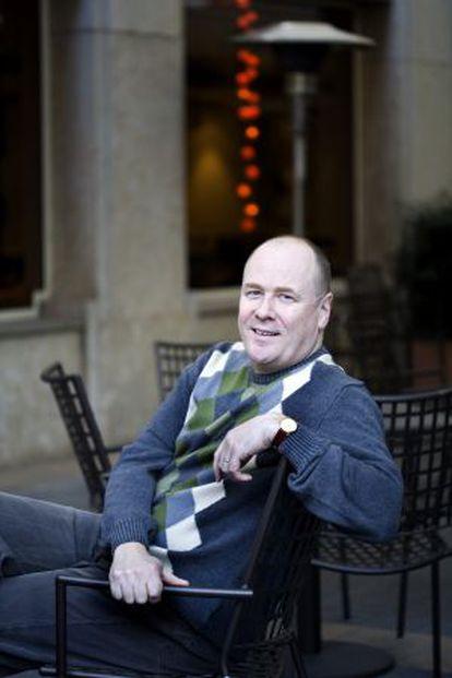 El escritor islandés Arnaldur Indridason, en Barcelona.