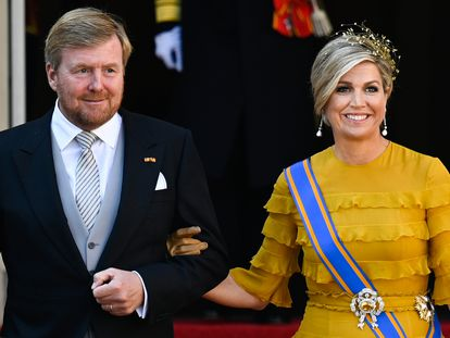 Los reyes Guillermo y Máxima de Holanda en La Haya en septiembre de 2020.