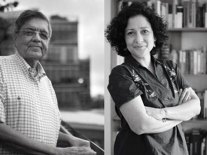 Sergio Ramírez y Pilar Quintana.