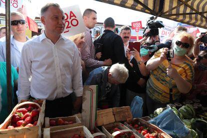 Andrzej Duda, este viernes en la ciudad polaca de Konin.