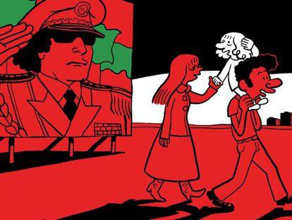 Una ilustración de 'El árabe del futuro'.