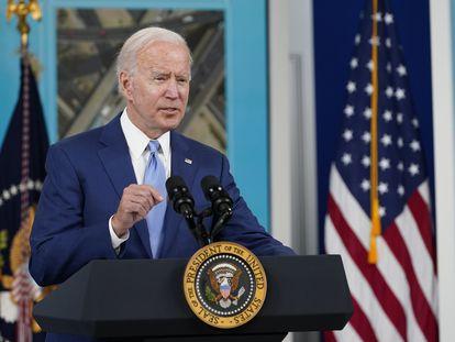 El presidente Biden intervenía el pasado día 8 desde Washington.