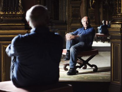 Eduardo Galeano, en una entrevista en Madrid en 2008.