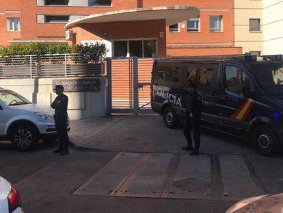 Agentes antidisturbios de la Policía Nacional en una reciente operación en Madrid.