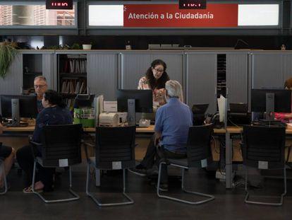 Oficinas municipales del Ayuntamiento de Rivas Vaciamadrid, el viernes pasado.