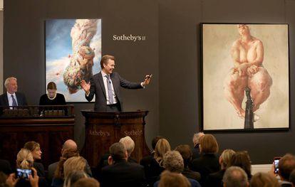Subasta de arte contemporáneo de Sotheby's en Londres el pasado octubre.