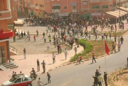 Enfrentamientos y despliegue policial en El Aaiún.