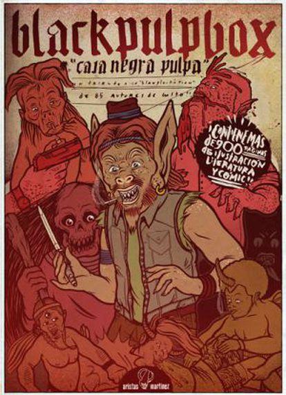 Portada de 'Black Pulp Box' de la editorial Aristas Martínez.