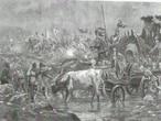'La marcha a Villalar' (1880), de Eugenio Álvarez Dumont, donde el pintor representa a los carros comuneros tirados por bueyes.