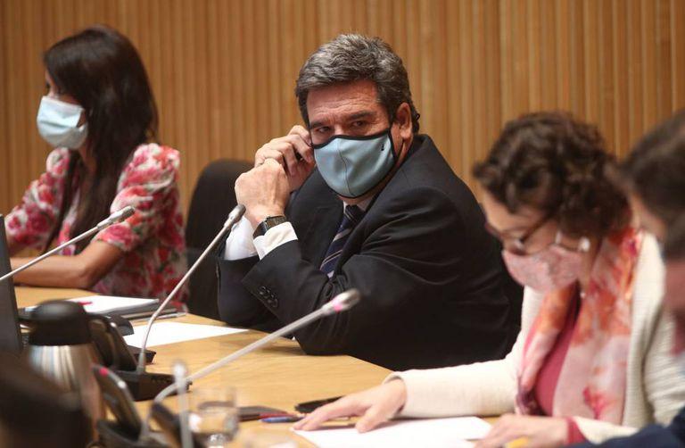 El ministro de Seguridad Social, José Luis Escrivá, en la comisión parlamentaria del Pacto de Toledo.