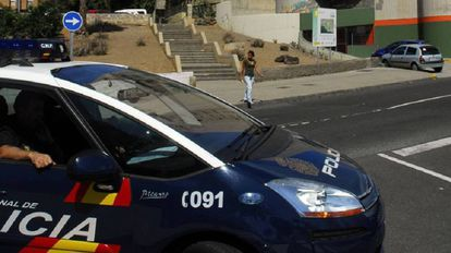 Imagen de archivo de un coche de policía.