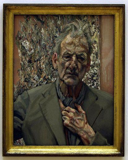 Pintura titulada 'Autorretrato, reflexión', de Lucien Freud, expuesta en Londres