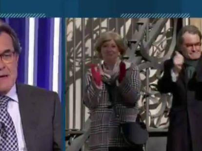 El 'expresident' de la Generalitat, en el programa '8 al día'.