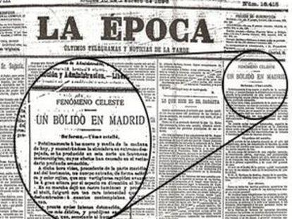 Portada del diario La Época del 10 de febrero de 1896.