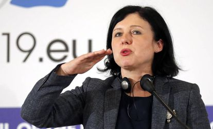 La comisaria europea Vera Jourová.