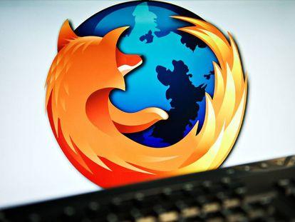 Una pantalla de ordenador con el logo de Mozilla.