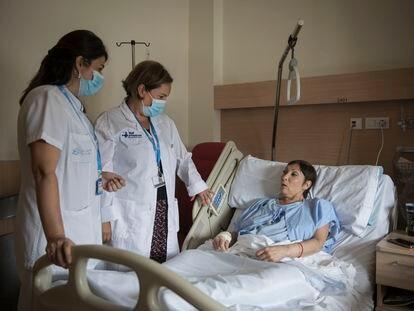 La Unidad de Atencion Intermedia Oncológica Pere Virgili - Vall d'Hebron.