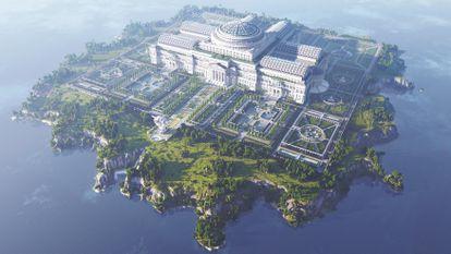 Vista desde arriba de la construcción del complejo de 'The Uncensored Library'.