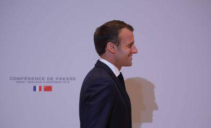 Emmanuel Macron, el 6 de noviembre en China