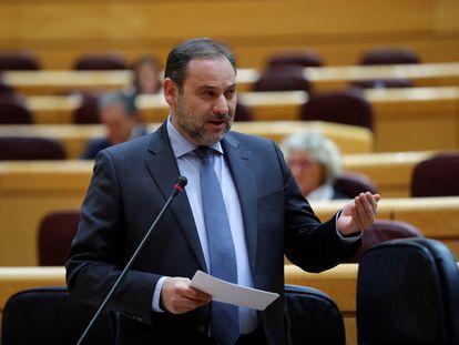 José Luis Ábalos durante la sesión de control en el Senado el pasado mayo