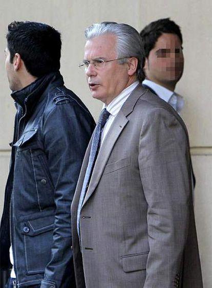 El juez Baltasar Garzón, en la Audiencia Nacional.