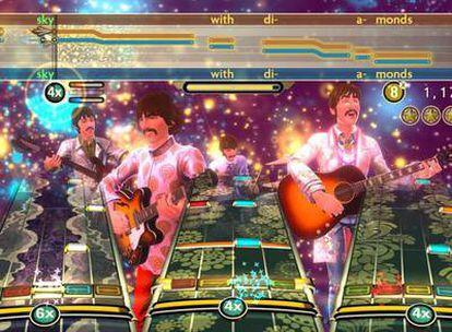 Imagen de The Beatles Rock Band, juego que repasa la historia de los Beatles desde sus inicios.