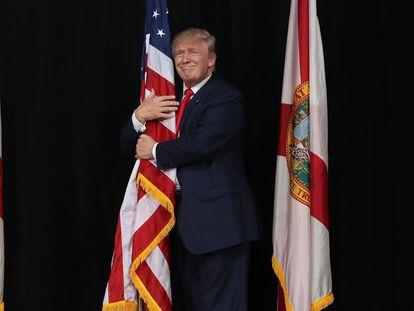 Donald Trump, en octubre de 2016 durante un acto electoral en Florida.