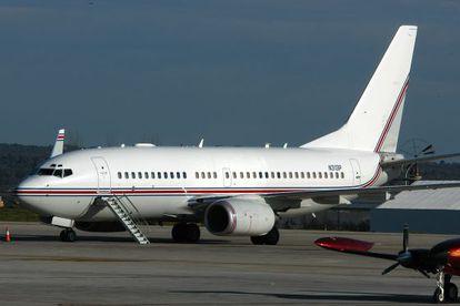 Uno de los supuestos vuelos de la CIA en el aeropuerto de Palma el 23 de enero de 2004.