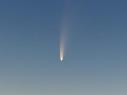 El cometa Neowise, en todo su esplendor.