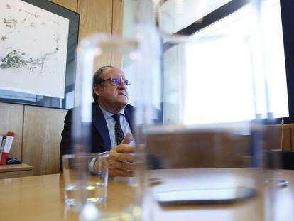 Ángel Gabilondo, el pasado viernes, en su despacho de la Asamblea de Madrid.