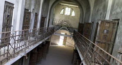 Prisión de Ramnicu Sarat, donde se confinaba a prisioneros políticos, en septiembre.