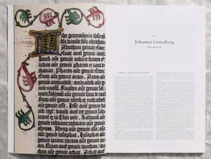 La Biblia de Gutenberg (1454), en una nueva edición de Taschen.
