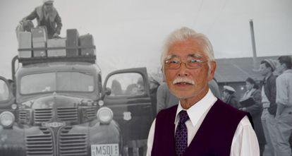 El superviviente de los campos de concentración Bill Shishima, en el Museo Japonés Americano de Los Ángeles, en marzo de 2016.