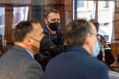 El serbio Norbert Feher, más conocido como 'Ígor el Ruso', durante la quinta sesión del juicio en la Audiencia de Teruel este viernes por el asesinato de un ganadero y dos guardias civiles.