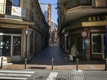 Una calle cormercial de Talavera de la Reina (Toledo).