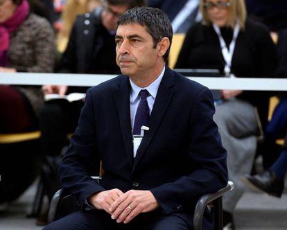 Josep Lluís Trapero, durante la primera jornada del juicio.