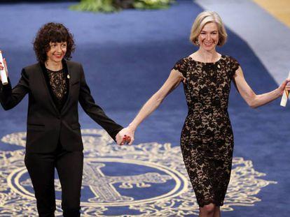 Emmanuelle Charpentier y Jennifer Doudna, madres de la técnica CRISPR.