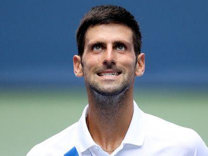 Djokovic, durante el partido de semifinales contra Bautista en Nueva York. / MATTHEW STOCKMAN (GETTY)