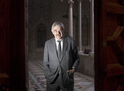 Pasqual Maragall, antes de la entrevista, en el Palau de la Generalitat.