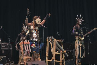 La banda Fulu Miziki en uno de los conciertos.