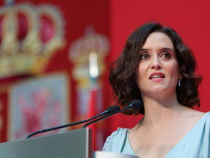Díaz Ayuso, en su toma de posesión como presidenta regional.