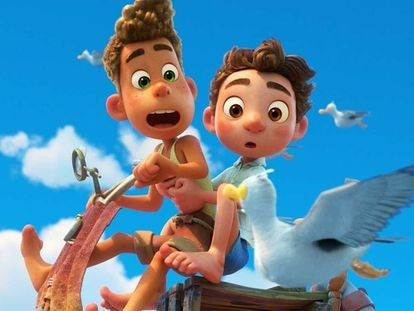 Una imagen de la película 'Luca', de Pixar.